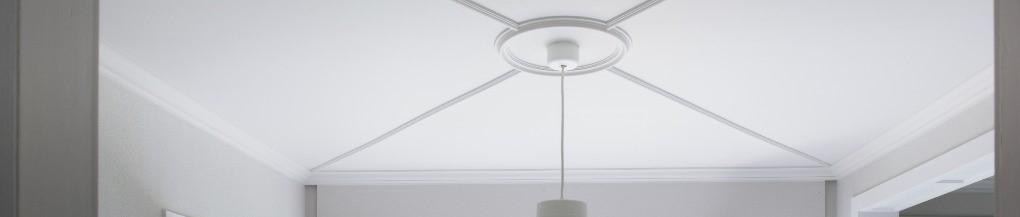 Moderne rozet R66 op een plafond